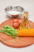 Ingredientes para tortitas de maíz — Foto de Stock
