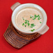 Mushroom cream soup — Stock Photo #56144393