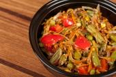 Warm vegetable salad — Stock Photo
