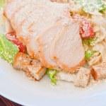 Chicken ceasar salad — Stock Photo #62283829