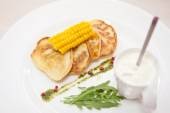 Corn pancakes — Stock Photo