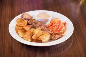 Carne de porco grelhada — Fotografia Stock