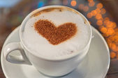 Coffee heart shape — Stock Photo