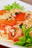 Pasta with vegetable — Stock Photo