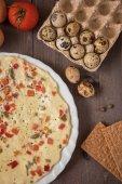 Baked omelette — Stock Photo