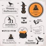 Set of halloween labels — Stock Vector #54652533
