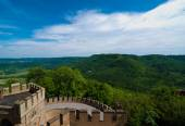 Hohenzollern Castle walls and surroundings, Germany — Stock Photo