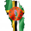 Dominica flag map — Stock Photo #52293913