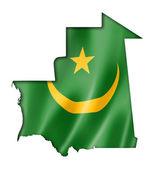 Mauritania flag map — Stock Photo