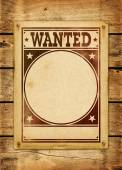 Wanted poster on a wood board — Stock Photo