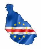 Cape Verde flag map — Stock Photo