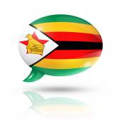 Zimbabwean flag speech bubble — Stock Photo