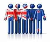 Flag of New Zealand on stick figure — Stock Photo