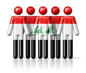 Flag of Iraq on stick figure — Stock Photo