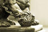 Buddhist sculpture. Stone statue. — Foto de Stock