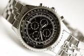 Dial wristwatch close-up — Stock Photo