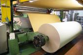 Factory to produce corrugated cardboard — Stok fotoğraf