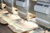 Textile - Professional and industrial embroidery machine — Stock Photo
