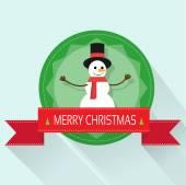 Snowman  greeting card — Stock Vector