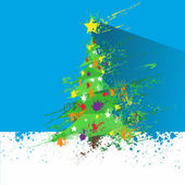 Christmas decorated tree — Stock Vector