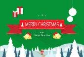 Biglietto di auguri di Natale — Vettoriale Stock