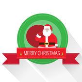 Santa Claus on Christmas  card — Stock Vector