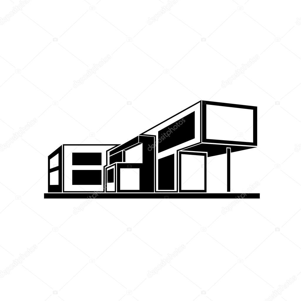 Modern house building — Stock Vector © mast3r #59094357 - ^