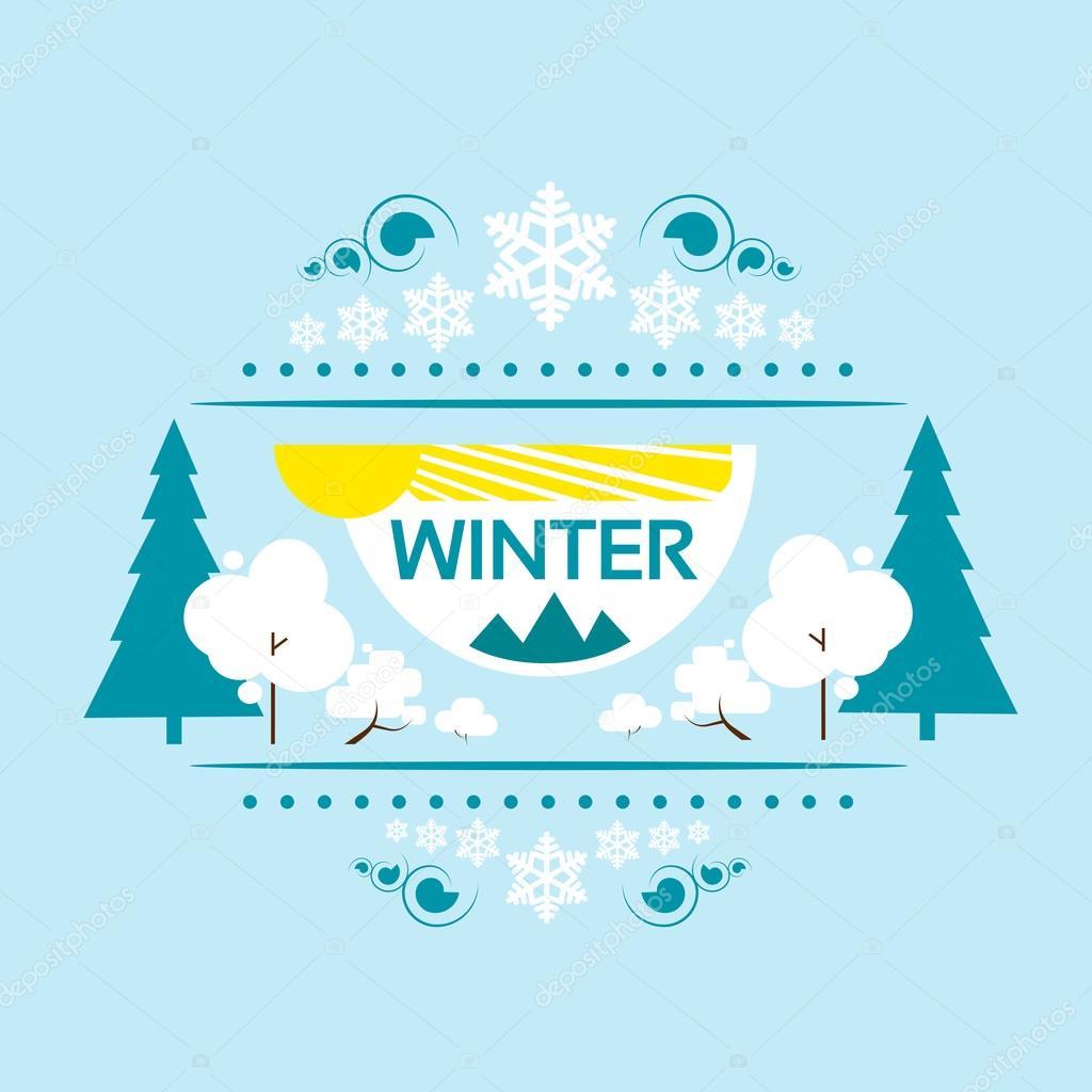冬季横幅 — 图库矢量图像08