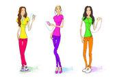 Casual women set — Stock Vector