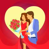 Valentine day holiday couple — Διανυσματικό Αρχείο