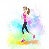 Sport woman jogging — Stock Vector