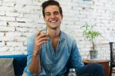 Handsome Man Drinking Coffee — Stock Photo