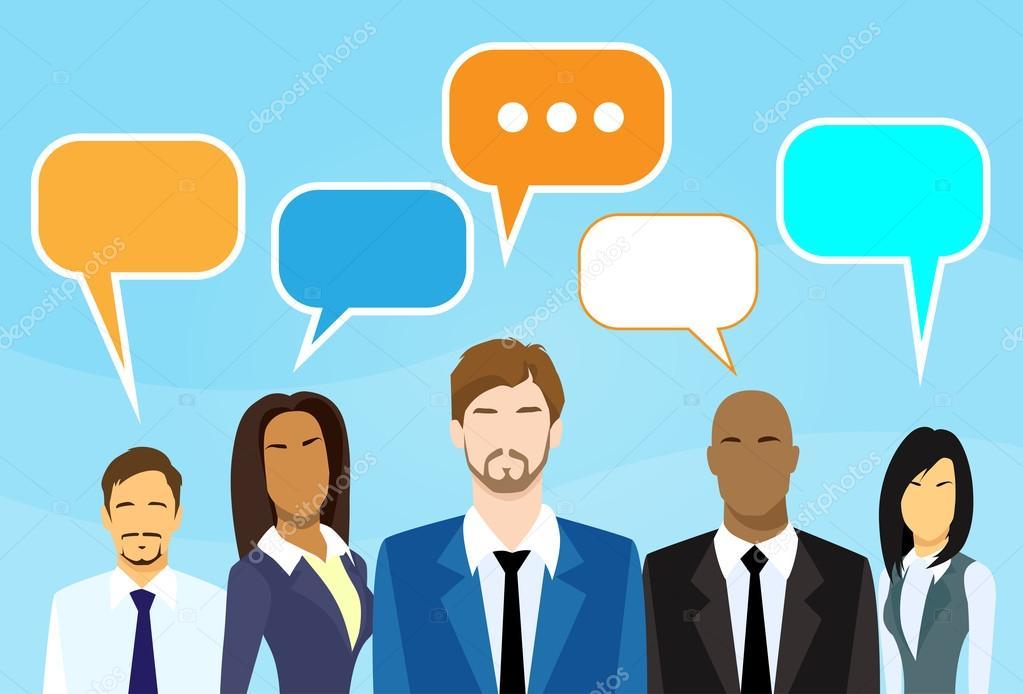 Grupo De Personas De Negocios Hablando