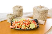 Salad with shrimp and mussels  — Stock Photo