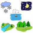 Set of pictures for children nature — Stock Vector #70999029