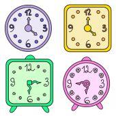 Clocks — Stock Vector
