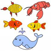 Set of animals for babies — Stock Vector