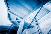 Blue toned office building — Stock Photo