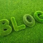Grass blog word — Stock Photo #54299607