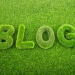 Grass blog word — Stock Photo #60988311