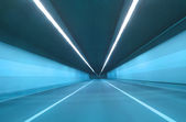 Modern road tunnel with light — Stock Photo