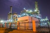 Planta industrial da refinaria — Fotografia Stock