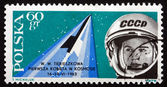 Postage stamp Poland 1963 Valentina Tereshkova — Stock Photo