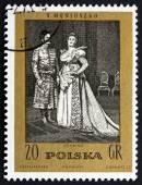 Postage stamp Poland 1972 The Countess, an Opera by Moniuszko — Zdjęcie stockowe
