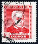 Postage stamp Chile 1956 Manuel Montt, Chilean Politician — Stockfoto