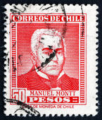 Postage stamp Chile 1956 Manuel Montt, Chilean Politician — Foto Stock