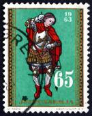 Postage stamp Yugoslavia 1963 Archangel Michael — Stock Photo