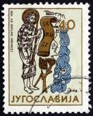 Postage stamp Yugoslavia 1964 Detail from Cetinje Octavo — Stock Photo
