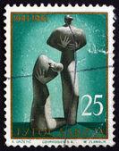クラグイェヴァツ切手ユーゴスラビア 1961年犠牲者の記念碑 — ストック写真