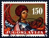Postage stamp Yugoslavia 1962 Archangel Gabriel — Stock Photo